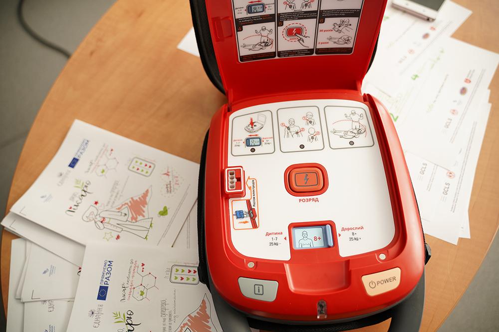 У Вінниці встановили перший в публічному просторі автоматичний зовнішній дефібрилятор